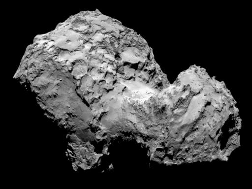 67P/Churyumov-Gerasimenko Image Credit: ESA / Rosetta / MPS for OSIRIS Team; MPS/UPD/LAM/IAA/SSO/INTA/UPM/DASP/IDA