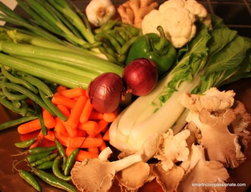 Vegetables I used