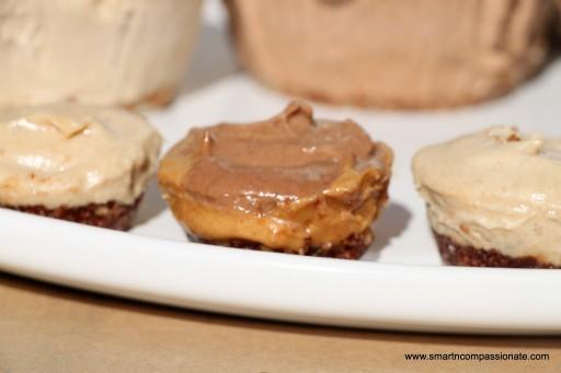 Chocolate filling & peanut butter on chocolate crumb crust