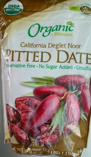2.5 Lb Organic Pitted California Deglet Noor Dates by Mariani