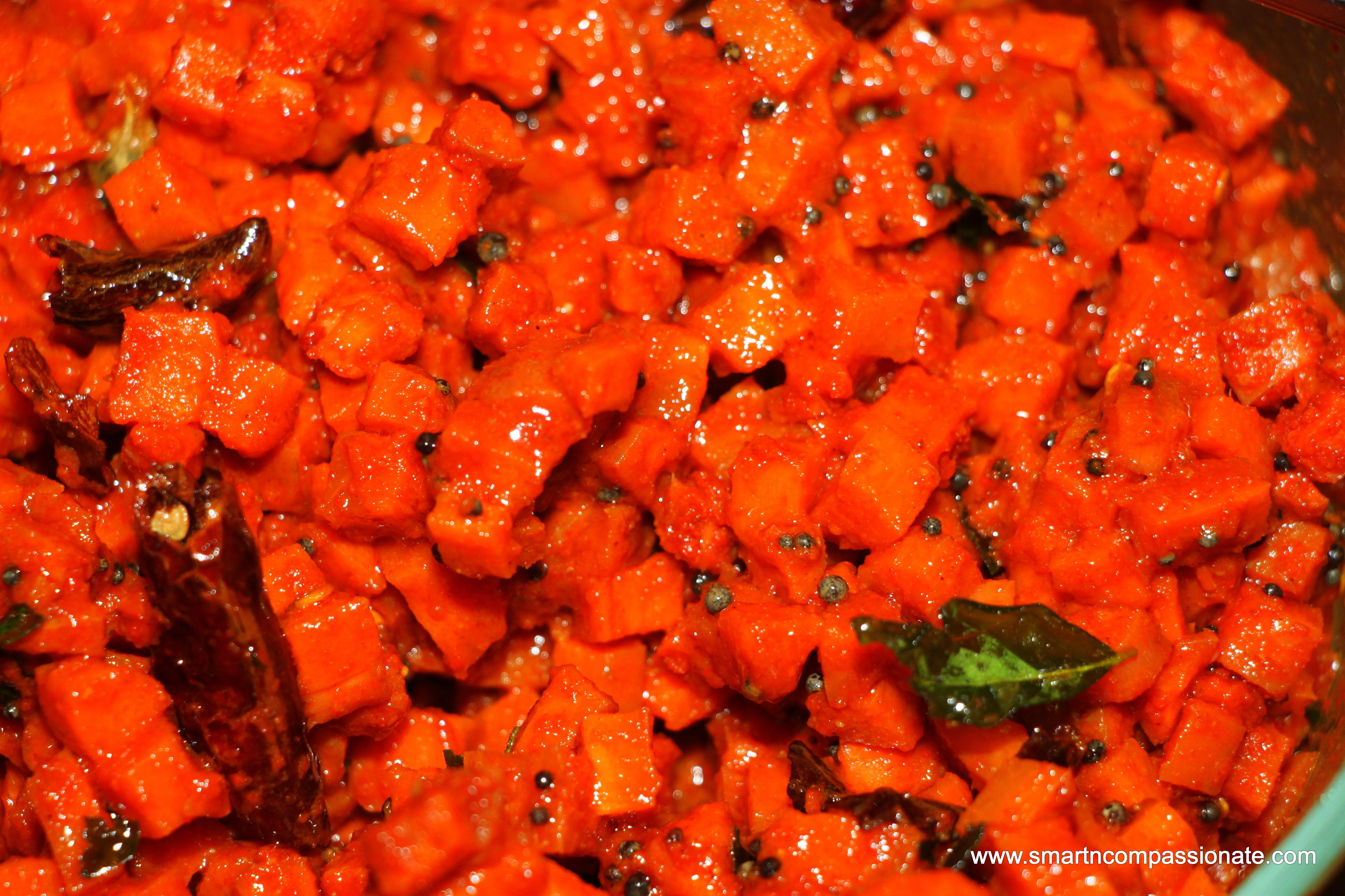 Carrot Pickles (Kaduku Carrot Achar)